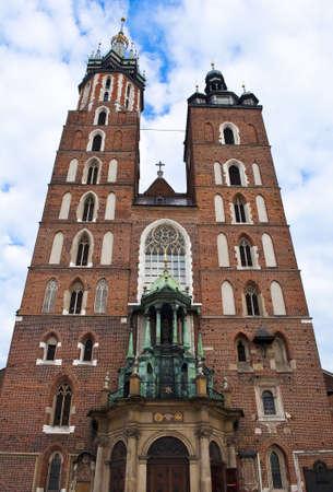 Church of Saint Mary in Krakow, Poland. 版權商用圖片