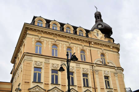 View of a traditional building in the City of Krakow, Poland.