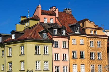 Houses in the Old Town of Warsaw, Poland.