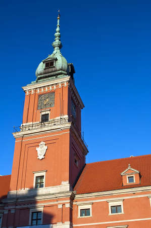 Royal Castle tower in Warsaw Old Town, Poland.