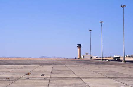 marsa: Airport in the desert, Marsa Alam, Egypt.