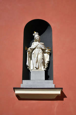 jesuit: Statue of the Virgin Mary at the Jesuit Church in Warsaw, Poland.