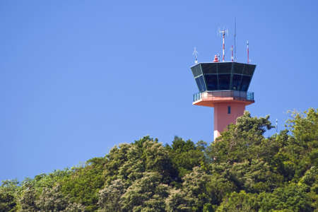 Central America, air traffic control tower in the jungle.