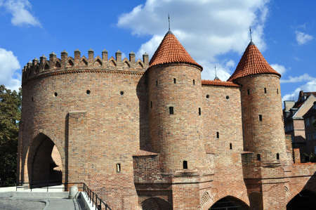 The Barbican, medieval fortification in the city of Warsaw, Poland.