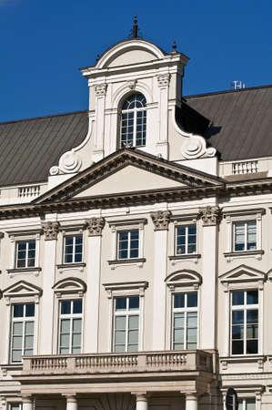 유럽의: Traditional european building facade: Warsaw City Hall.