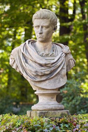 tiran: Memorial van Gaius Julius Caesar Germanicus (Caligula). Stockfoto