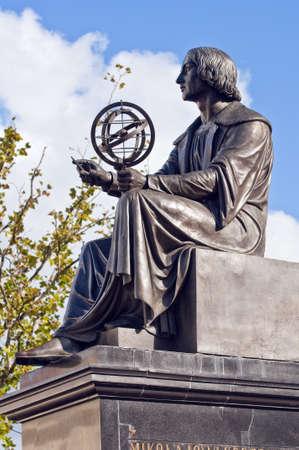 Statue of Nicolaus Copernicus in Warsaw, Poland.