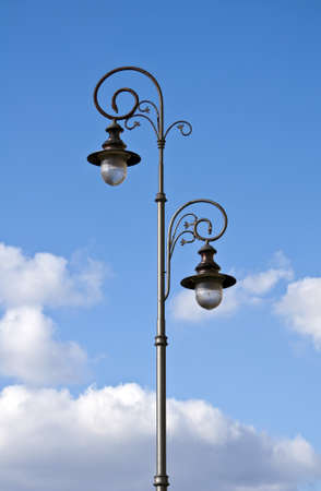 Image of an old fashioned street lamp. photo