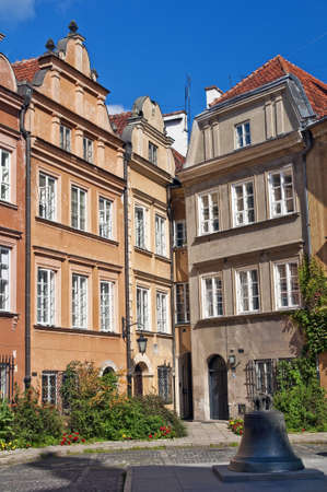 Houses in the Old Town of Warsaw,Poland.