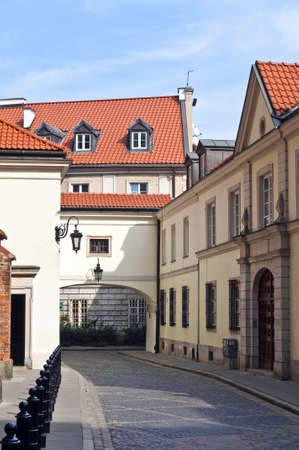 Street in the Old Town of Warsaw,Poland.
