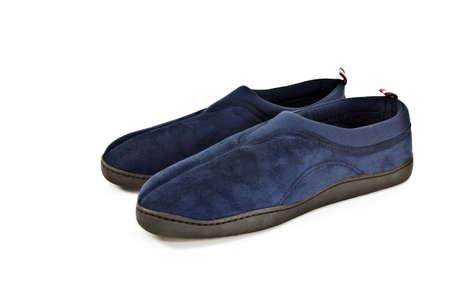 houseshoe: Pair of slippers isolated on white background. Stock Photo