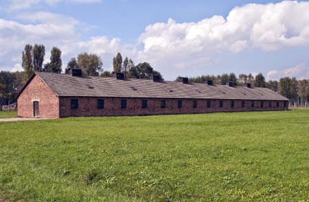 Prisoners barracks at the Auschwitz Birkenau concentration camp in Poland. Stock Photo - 10820845
