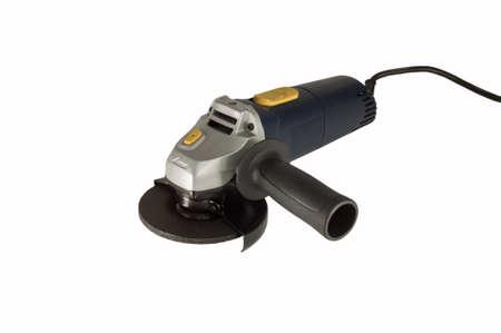 Powertool; grinder isolated on white background. Stock Photo