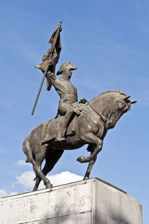 manuel: Monument to General Manuel Belgrano in Lujan, Buenos Aires, Argentina. Stock Photo