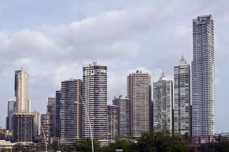Panama City skyline, Panama. 新聞圖片