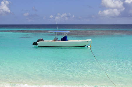 Recreational boat in the Caribbean Sea.