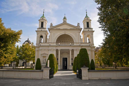 St. Annes Church, at the Wilanow Palace in Warsaw, Poland.