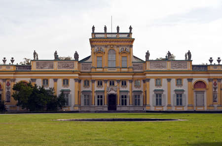 Front view of a Royal Palace in Wilanow, Warsaw, Poland. Sajtókép