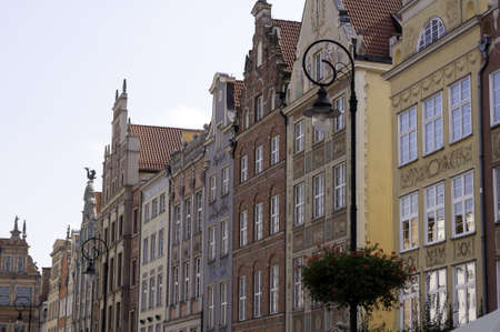 typical: Typical polish architecture in the Old Town of Gdansk.
