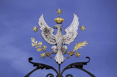 Crowned white eagle, national symbol of Poland.