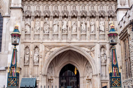 Entrance to Westminster Abbey, city of London, England