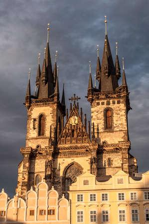 tynsky church: Church of Mother of God in front of Týn, Prague, Czech Republic