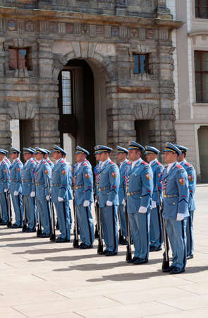 ceremonial clothing: Changing of the guard at the Prague Castle, Czech Republic
