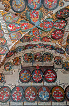 Display of medieval coats of arms, Prague Castle
