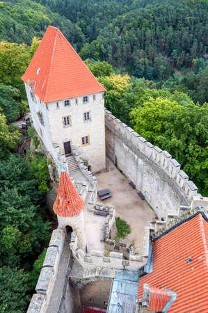 fortify: Medieval Kokorin castle, in the Czech Republic  Stock Photo