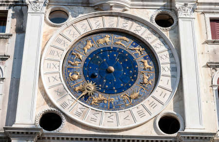 Astronomical clock in San Marco Square, Venice, Italy