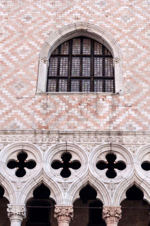 Detail of Venetian architecture, Palazzo Ducale, Venice, Italy