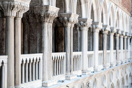 ducale: Detail of Venetian architecture  Palazzo Ducale in Venice, Italy