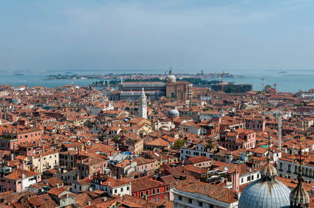 st mark: High angle view of Venice, in Italy