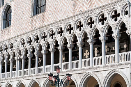 piazza san marco: Detail of Venetian architecture, Palazzo Ducale, Venice, Italy