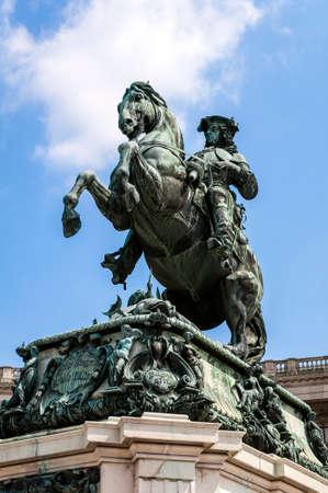 eugene: Monument to Prince Eugene of Savoy in Vienna, Austria  Stock Photo