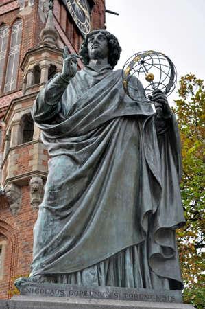 torun: Monument to Nicolaus Copernicus in Torun, Poland