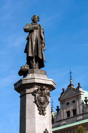 dramatist: Monument to Adamowi Mickiewiczowi  Adam Mickiewicz  in Warsaw, Poland  Stock Photo