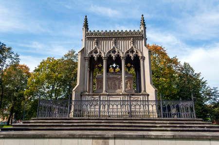 neo gothic: Mausoleum of Aleksandra and Stanislaw Kostka Potocki in Wilanow, Warsaw