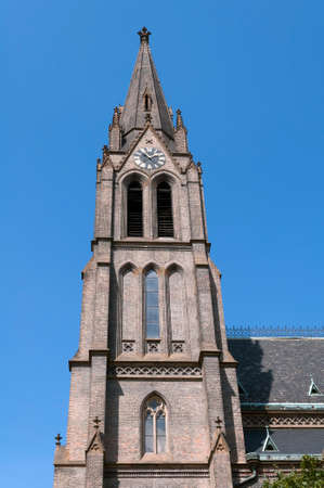 praga: Church of St. Ludmila, Namesti Miru, Vinohrady, Praga. Stock Photo