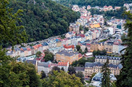 vary: view of the town of Karlovy Vary.