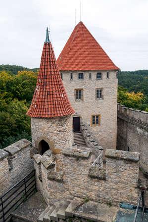 fortify: Medieval Kokorin castle in the Czech Republic.