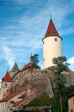 fortify: Medieval Krivoklat castle in Central Bohemia, Czech Republic. Editorial