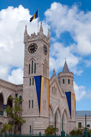 houses of parliament: Barbados Parliament building in capital city of Bridgetown.