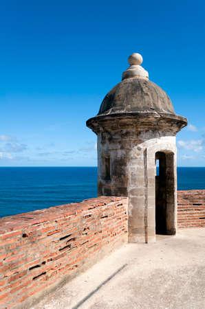 juan: Observation tower at the Castillo de San Cristobal, in Old San Juan, Puerto Rico. Editorial