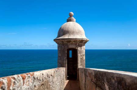 Castillo de San Felipe del Morro, in Old San Juan, Puerto Rico. Stock Photo