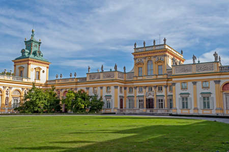 wilanow: View of the Royal Palace in Wilanow, Warsaw, Poland.