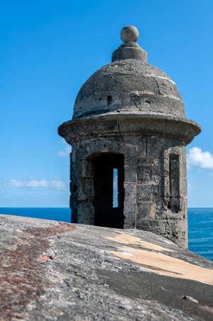 juan: Tower at the Castillo de San Cristobal, in Old San Juan, Puerto Rico. Editorial