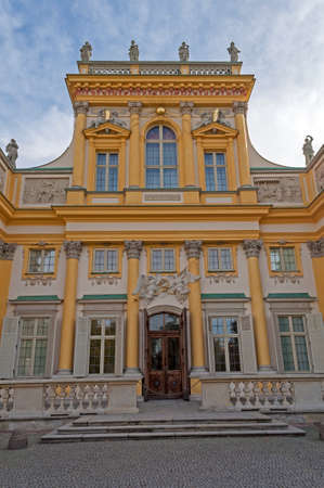 wilanow: Entrance to the Royal Palace in Wilanow, Warsaw, Poland.