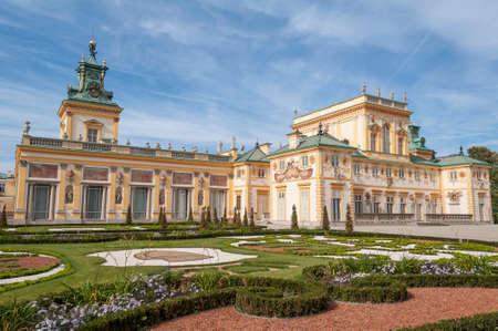 warszawa: View of the Royal Palace in Wilanow, Warsaw, Poland.