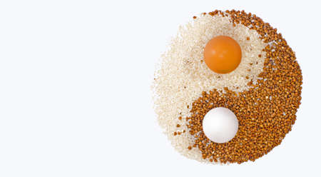 Eggs yin yang